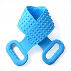 BWOHOPS Alat Bantu Mandi Sikat Gosok Punggung Silicone Scrub Back Bath Brush - BW60 - Blue - 3