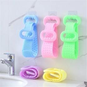 BWOHOPS Alat Bantu Mandi Sikat Gosok Punggung Silicone Scrub Back Bath Brush - BW60 - Blue - 11