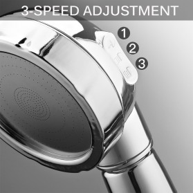 BAKALA Kepala Shower Mandi Rotating 360 Degrees With  3 Mode Water Pressure - BR-2223 - Silver - 7