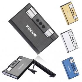 Firetric Focus Kotak Rokok Cigarette Box 8 Slot dengan Korek Gas - YH007 - Black - 7