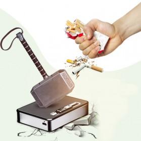 Focus JIJU Kotak Rokok Cigarette Box 10 Slot dengan Korek Gas - YH060 - Silver - 4