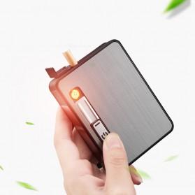Focus JIJU Kotak Rokok Cigarette Box 10 Slot dengan Korek Gas - YH060 - Silver - 5