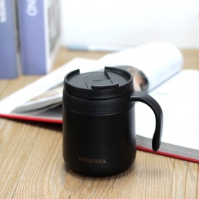 HOTnCOOL Botol Minum Mug Tumbler Thermos Coffee Stainless Steel 350ml - HC300 - Black