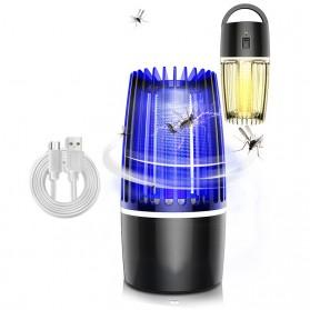 ETONTECK Pembasmi Nyamuk Mosquito Lamp Photocatalysis Zapper UV Light USB - 5966 - Black