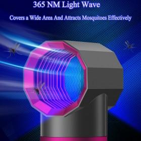 ETONTECK Pembasmi Nyamuk Mosquito Lamp Killer Photocatalysis Vortex UV Light - 5967 - Gray - 4