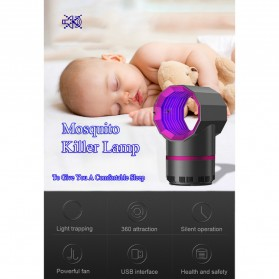 ETONTECK Pembasmi Nyamuk Mosquito Lamp Killer Photocatalysis Vortex UV Light - 5967 - Gray - 7
