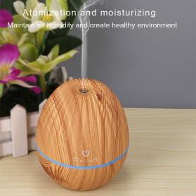 Kongyide Air Humidifier Aromatherapy Diffuser Wood Design 130ml - AJ-510 - Dark Brown - 5