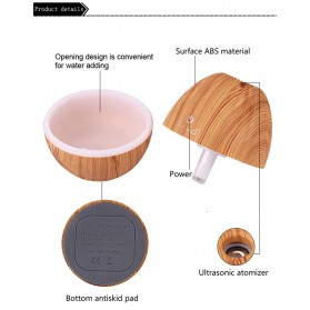 Kongyide Air Humidifier Aromatherapy Oil Diffuser Wood Design 130ml - AJ-510 - Wooden - 10