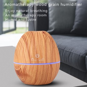 Kongyide Air Humidifier Aromatherapy Oil Diffuser Wood Design 130ml - AJ-510 - Wooden - 4