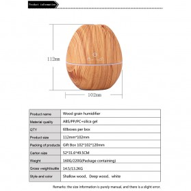 Kongyide Air Humidifier Aromatherapy Oil Diffuser Wood Design 130ml - AJ-510 - Wooden - 8
