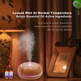 Kongyide Air Humidifier Aromatherapy Diffuser Wood Design 300ml - AJ-511 - Dark Brown - 5