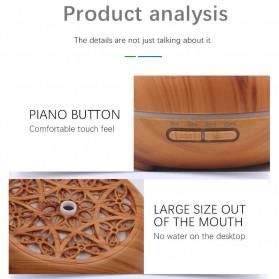 Kongyide Air Humidifier Aromatherapy Diffuser Wood Design 300ml - AJ-511 - Dark Brown - 7