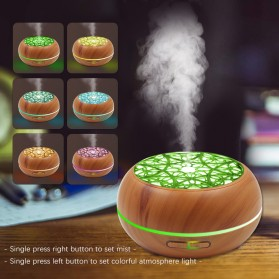 Kongyide Air Humidifier Aromatherapy Diffuser Wood Design 300ml - AJ-511 - Wooden - 6