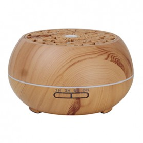 Kongyide Air Humidifier Aromatherapy Diffuser Wood Design 550ml with Bluetooth Speaker + Remote Control - J-109 - Wooden