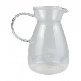 One Two Cups Coffee Maker Pot Teapot Kettle Teko Kopi Barista Glass 400ml - FT673 - Transparent - 9