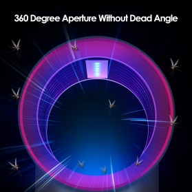 Tomshine Pembasmi Nyamuk Mosquito Lamp Killer Photocatalysis Vortex UV Light - KLY-189 - Gray - 11