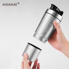 AODMUKI Botol Minum Tumbler Detachable Bottle Stainless Steel 600ml - AOM611 - Silver Black - 2
