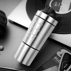 AODMUKI Botol Minum Tumbler Detachable Bottle Stainless Steel 600ml - AOM611 - Silver Black - 3