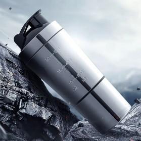 AODMUKI Botol Minum Tumbler Detachable Bottle Stainless Steel 600ml - AOM611 - Silver Black - 5