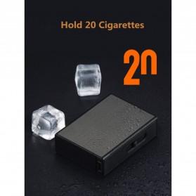 Vamav Kotak Rokok 20 Slot dengan Korek Elektrik USB Rechargeable - J708 - Black - 3