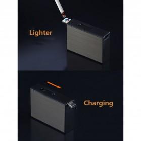 Vamav Kotak Rokok 20 Slot dengan Korek Elektrik USB Rechargeable - J708 - Black - 6