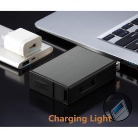 Vamav Kotak Rokok 20 Slot dengan Korek Elektrik USB Rechargeable - J708 - Black - 7