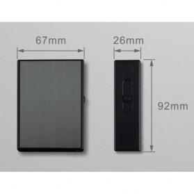 Vamav Kotak Rokok 20 Slot dengan Korek Elektrik USB Rechargeable - J708 - Black - 8