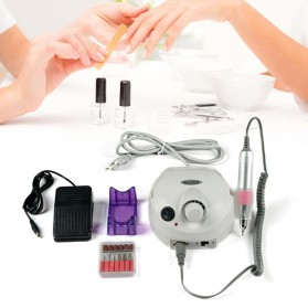 MTPure Alat Manicure Pedicure Kuku Electric Nail Drill Mill Cutter Machine 20000 RPM - YM88 - White
