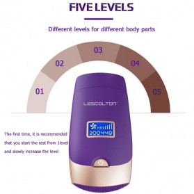 Lescolton 5 in 1 IPL Laser Epilator Permanent Hair Removal 300000 Flashes - T009i - White - 11