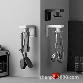 Liplasting Gantungan Spatula Kitchen Bathroom Hook - AS400 - Gray - 5