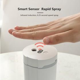 Disinfektan Smart Automatic Intelligent Induction Sprayer Alcohol Disinfection Hand Sanitizer 280ml - 603 - White - 3