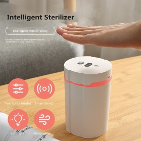 Disinfektan Smart Automatic Intelligent Induction Sprayer Alcohol Disinfection Hand Sanitizer 280ml - 603 - White - 7