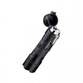 SANYI Senter LED Mini Korek Api Elektrik Plasma Arc - F201 - Black - 6