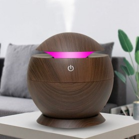 JUTAOHUI Air Humidifier Aromatherapy Diffuser Wood Design 130ml - JTH-001 - Dark Brown
