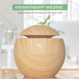 JUTAOHUI Air Humidifier Aromatherapy Oil Diffuser Wood Design 130ml - JTH-001 - Dark Brown - 5