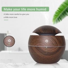JUTAOHUI Air Humidifier Aromatherapy Oil Diffuser Wood Design 130ml - JTH-001 - Dark Brown - 6