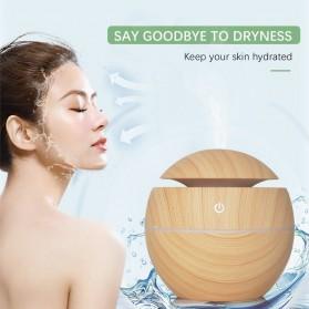 JUTAOHUI Air Humidifier Aromatherapy Oil Diffuser Wood Design 130ml - JTH-001 - Dark Brown - 7
