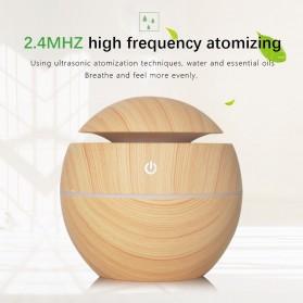 JUTAOHUI Air Humidifier Aromatherapy Oil Diffuser Wood Design 130ml - JTH-001 - Dark Brown - 8