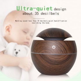 JUTAOHUI Air Humidifier Aromatherapy Oil Diffuser Wood Design 130ml - JTH-001 - Dark Brown - 9