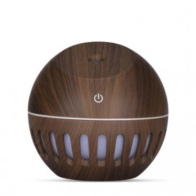 NAGOMI Air Humidifier Aromatherapy Diffuser Wood Design 130ml - YX-020e - Dark Brown