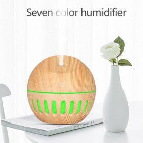 NAGOMI Air Humidifier Aromatherapy Oil Diffuser Wood Design 130ml - YX-020e - Wooden - 2