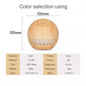 NAGOMI Air Humidifier Aromatherapy Oil Diffuser Wood Design 130ml - YX-020e - Wooden - 4