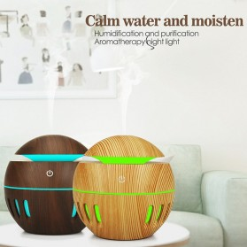 KEBEIER Air Humidifier Aromatherapy Diffuser Wood Design 130ml - K-H272 - Dark Brown