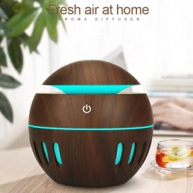 KEBEIER Air Humidifier Aromatherapy Oil Diffuser Wood Design 130ml - K-H272 - Dark Brown - 6