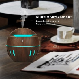 KEBEIER Air Humidifier Aromatherapy Oil Diffuser Wood Design 130ml - K-H272 - Dark Brown - 9