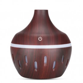 OUSSIRRO Air Humidifier Aromatherapy Diffuser Wood Design 300ml - JTH-002 - Dark Brown