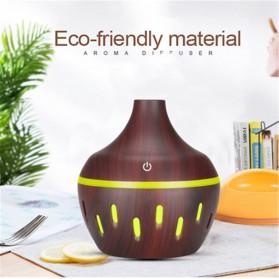 OUSSIRRO Air Humidifier Aromatherapy Oil Diffuser Wood Design 300ml - JTH-002 - Dark Brown - 2