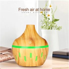 OUSSIRRO Air Humidifier Aromatherapy Oil Diffuser Wood Design 300ml - JTH-002 - Dark Brown - 3