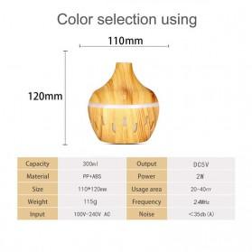 OUSSIRRO Air Humidifier Aromatherapy Oil Diffuser Wood Design 300ml - JTH-002 - Dark Brown - 6