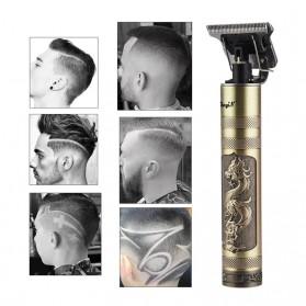 VIP Alat Cukur Elektrik Hair Clipper Ceramic Trimmer USB Rechargerable Model Retro Black - WS-T99 - Black Gold - 3